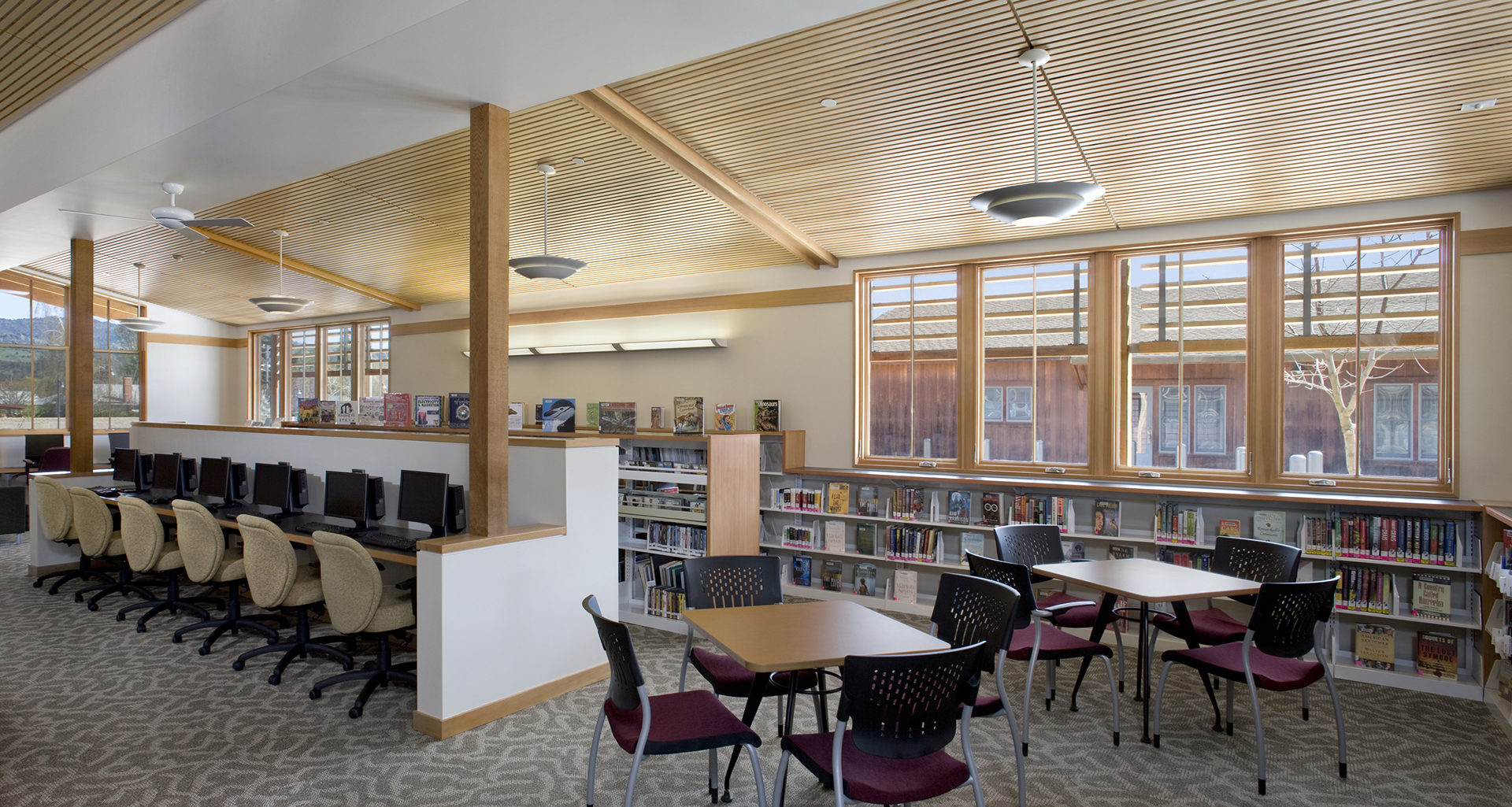 Yountville Town Center & Library | Photos by David Wakely