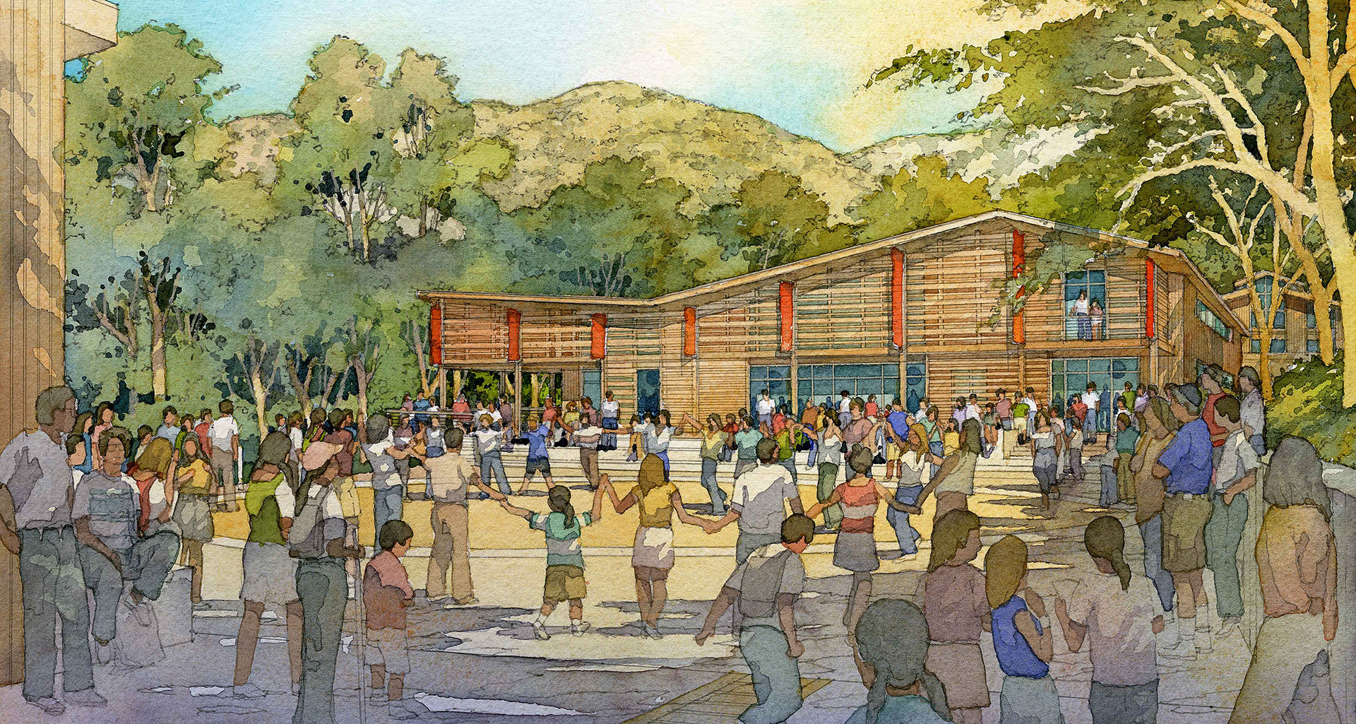 Wilshire Boulevard Temple Camps | Renderings by Al Forster