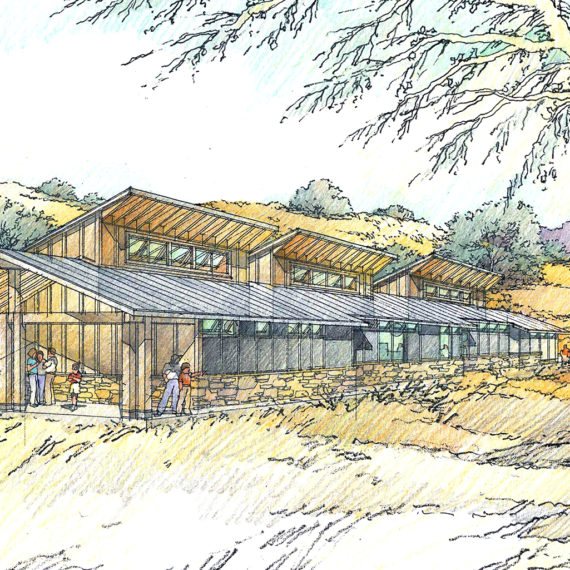 Pinnacles Visitor Center | Siegel & Strain | Rendering: Al Forster