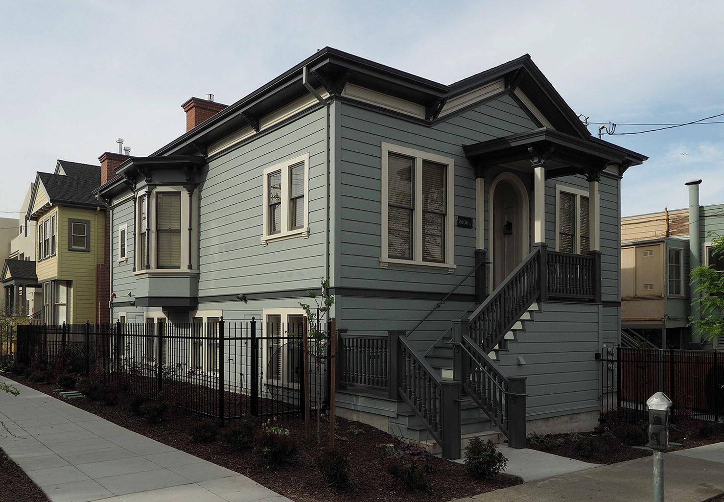 John Woolley House and the Ellen Blood House, Berkeley, California.