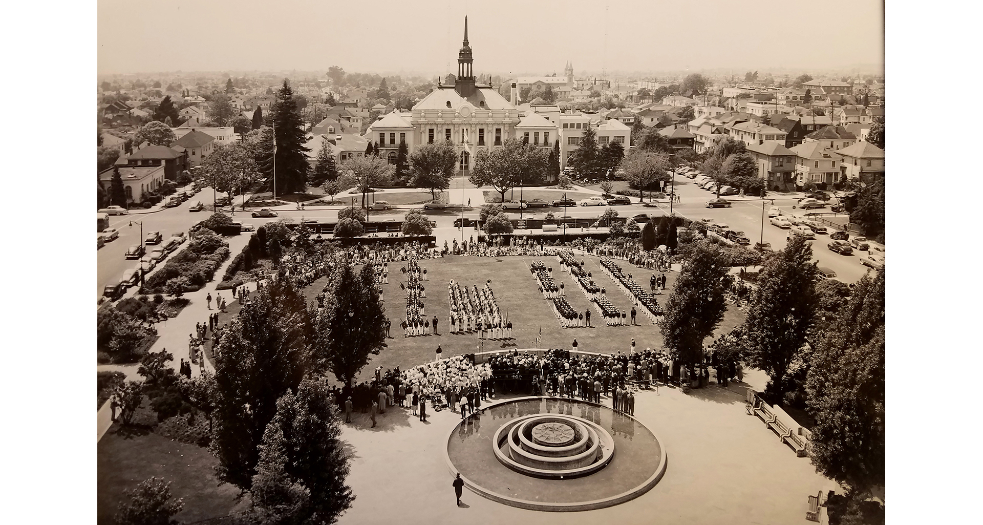 Berkeley Civic Center Park circa 1950 without flagstone